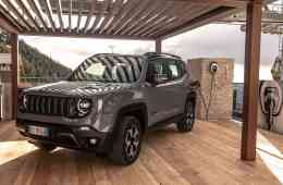 Jeep Renegade 4xe an einer Easy Wallbox von Fiat Chrysler.