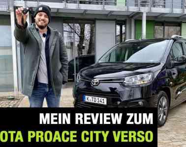 """Neuer Toyota Proace City Verso """"Executive"""" (130 PS) - Fahrbericht im Video, Jan Weizenecker"""