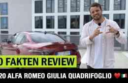 Alfa Romeo Giulia Quadrifoglio (2020) - 10 Fakten, Jan Weizenecker