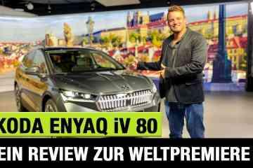 "2021 Skoda Enyaq iV 80 ""Lounge"" (204 PS) - Die Weltpremiere des E-SUV! -Review | Test | Sitzprobe"