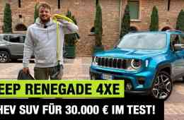 "2021 Jeep Renegade 4xe ""Limited"" (190 PS) - PHEV-SUV für 30.000 € im Test! - Fahrbericht 