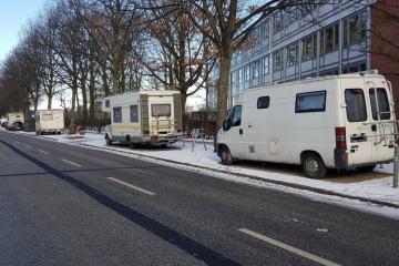 Wenn Camper Parkraum klauen