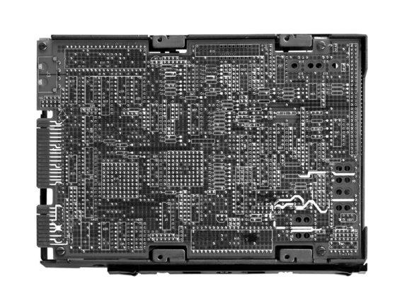 Ein sehr beliebtes Festplatten-Model der späten 30er-Jahre. Das Speichermodul «Magnetischer Datenspeicher 36XL» wurde bis 1970 in Computern verbaut.  bild: shutterstock