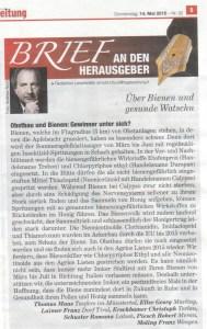 20150514_Bienen und Imker NSTZ 14.05.15