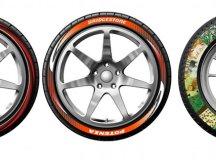 Bunt bedruckte Reifen