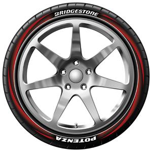 bedruckter Reifen mit Design