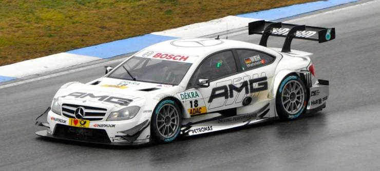 Last but not least Pascal Wehrlein im DTM Mercedes AMG C-Coupe