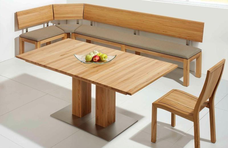 Holztisch massiv ausziehbar  Esstisch ausziehbar aus Massivholz ohne Einlegeplatte