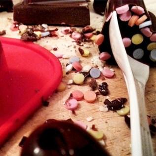 Schokolffel selbst gemacht Schokolade DIY present geschenk Naschen Idee kreativ