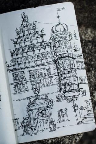 Zeitreise mit der Deutschen Bahn - Sketching in Rothenburg ob der Tauber