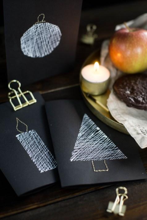 diy-einfache-weihnachtskarten-schwarz-weiss-gold-sticken-bestickt-christmascards-4