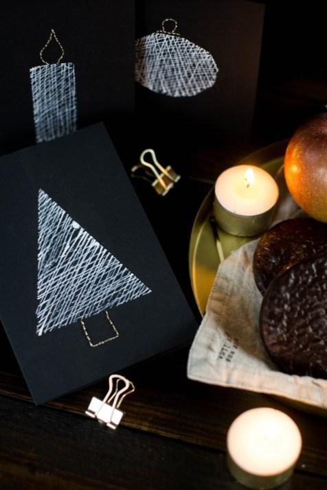 diy-einfache-weihnachtskarten-schwarz-weiss-gold-sticken-bestickt-christmascards-7