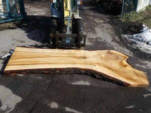 Tischplatte aus Massivholz Pappel S-00080
