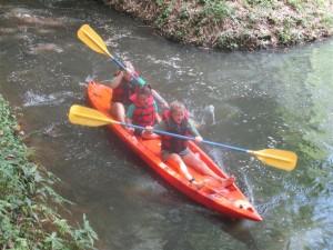 Funyak-039- Green paddling first!