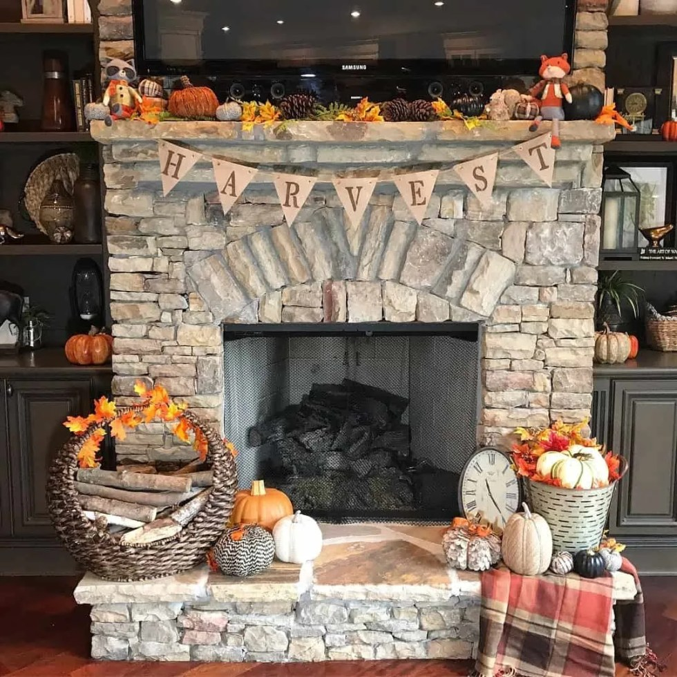 Fresh Fall Home Decorating Ideas Home Tour: Fall Home Tour: Autumn In The Den And Kitchen