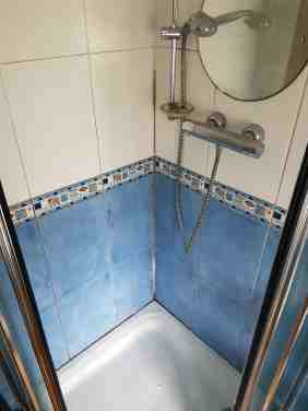 Shower Cubicle Before Cleaning Chapel-en-le-Frith