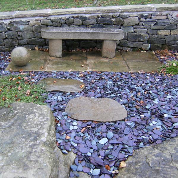 slate garden landscaping Snowdonia Polished Slate 20-40mm | Landscaping