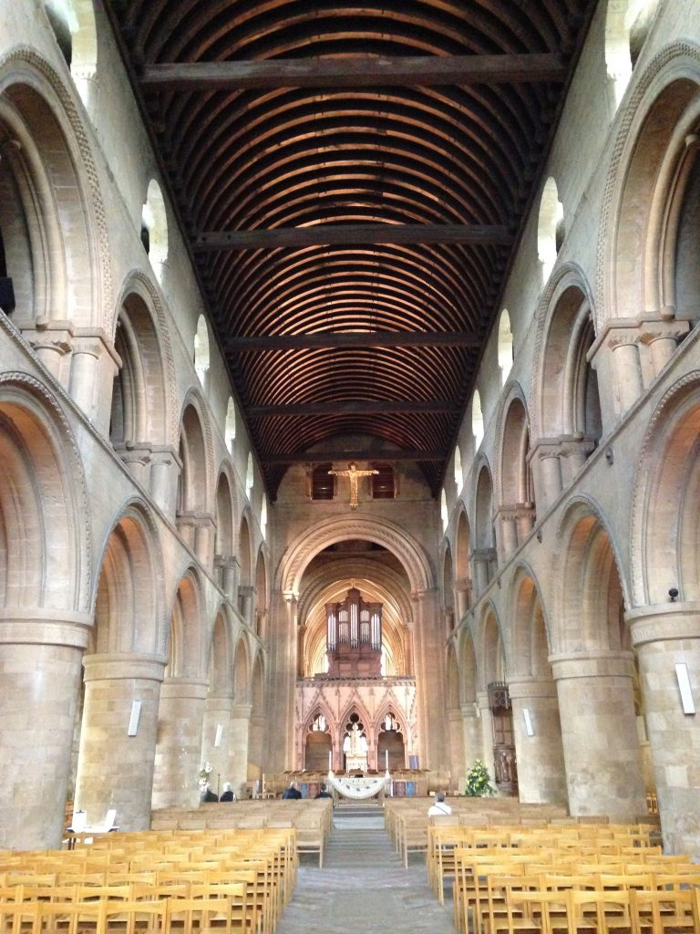 Inside Southwell Cathedral