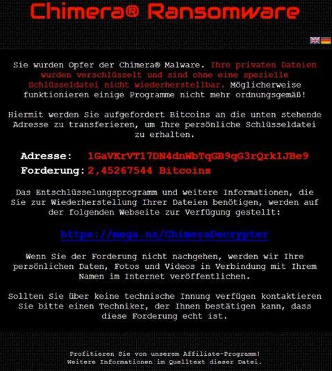chimera-ransomware