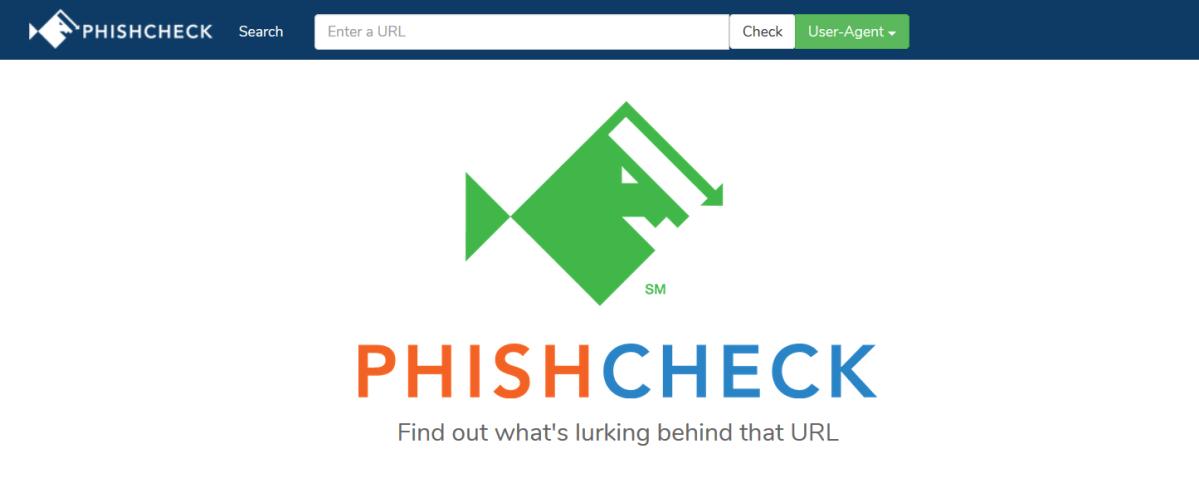 PhishCheck, una página web para comprobar si es phishing o no.