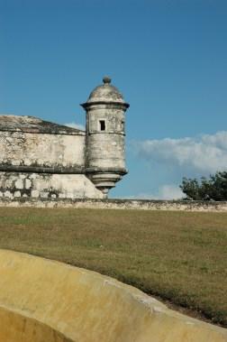 Fuerte San José, el alto- museo de barcos y armas, Campeche, México