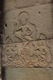 Las Apsaras en el templo Bayón, diosas acuáticas de la mitología hindú