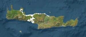 Afgelegde route op Kreta
