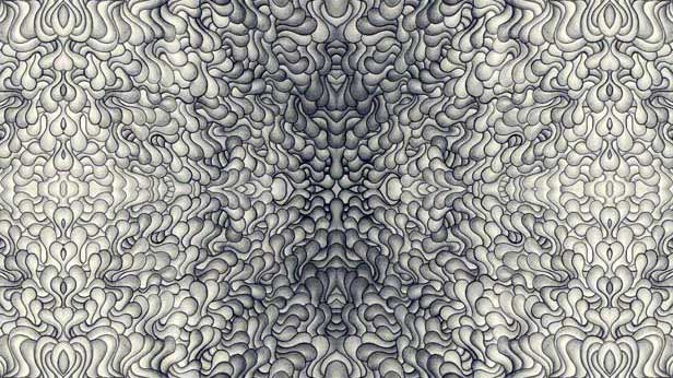 """A Symmetry of Sludge"" Graphite on Paper Artwork by Derek R. Audette"