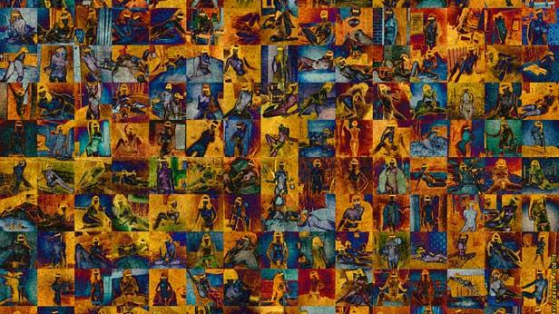 Inanna, in 150 Ordinary Forms - Digital art (photo manip) new media artwork by Derek R. Audette.