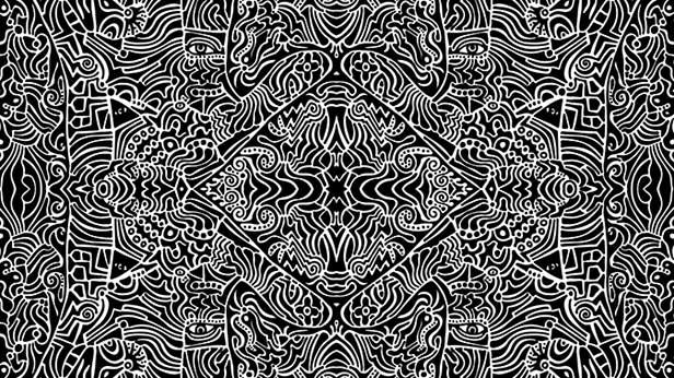 """Sanity In-Sanity"", digital manip of original ink on paper work by Derek R. Audette ©MMXVII"