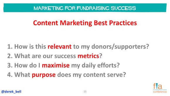 Tips for NFP's, your data & donors, supporters & engagement