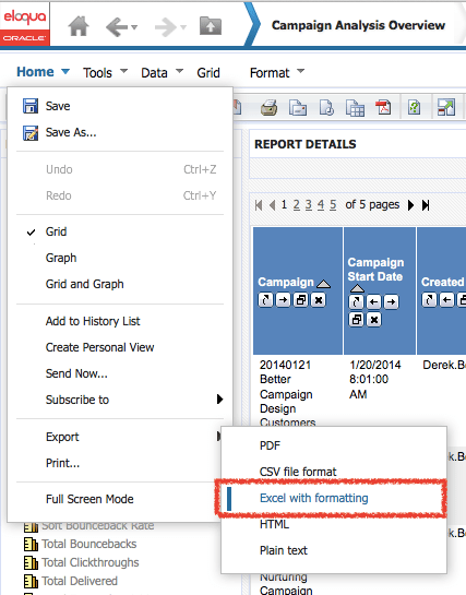 INSIGHT Export to Excel