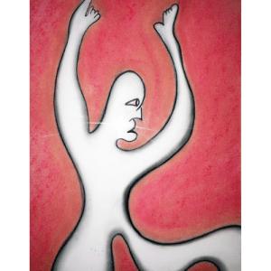 "Resignation | circa 2000 | Charcoal & Pastel | 8"" x 11""| © Derek Dodds"