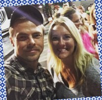 """Got to meet Derek Hough"" - San Diego, California - August 6, 2015 Courtesy amy_marie76 IG"