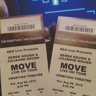 """Excited to see Derek and Julianne Hough"" - Las Vegas, Nevada - August 8, 2015 Courtesy lorevi23 IG"