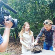 """""""An absolute pleasure filming with these two today and the animals #bindisueirwin #derekhough"""" - December 2015 Courtesy itchyfeetmedia IG"""
