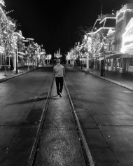 """Early morning stroll through the rarely empty main street of Disneyland #4am"" - January 13, 2016 Courtesy derekhough IG"