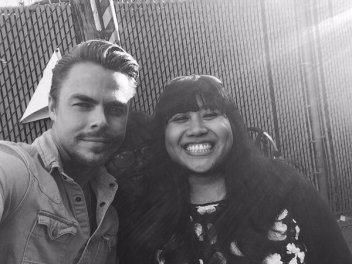 """""""@DerekHoughNews guess who I met on my birthday?! @derekhough he was soo sweet to everyone who came to see him 😄"""" - February 15, 2016 Courtesy gotaspendapenny twitter"""