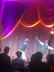 """Derek Hough performing a number from the upcoming 'Singin' in the Rain' musical. #WeinsteinParty"" - February 27, 2016 Courtesy RaminSetoodeh twitter"