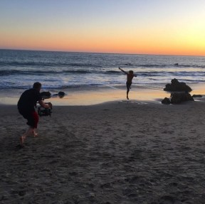 """@bigmanshorts got to shoot an awesome spot for the amazing @derekhough! Can't wait to share it with you guys. @jewishfoodbear #ronin #beach #sunset #promo #dance #BigMan"" - March 28, 2016 Courtesy adammargolisproductions IG"