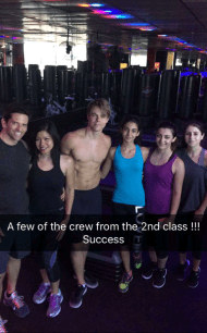 A few of the group from the 2nd class!! Success - August 4, 2016 Courtesy derekhough snapchat