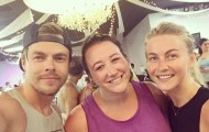 """Sweat my ass off tonight with two of my favorite dancers. Thank you @derekhough & @juleshough for being amazing humans 💕❤️💃🏻 #moveinteractive #move #dance"" - August 23, 2016 Courtesy jodieisenberg IG"