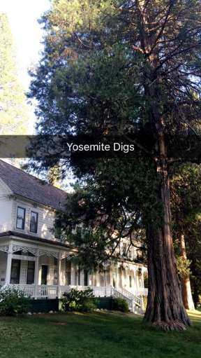 """Yosemite digs"" - August 5, 2016 Courtesy Derek Hough snapchat"