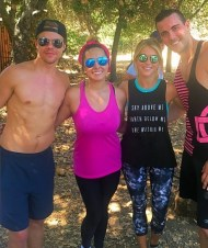 """""""What a great start to a awesome Sat. Hiking with @derekhough and @juleshough Nothing but good vibes keep up the good work. #motionequalsemotion #moveinteractive #goodvibes #lvft #fitlife #la #hiking #fitfam #smile"""" - August 13, 2016, Courtesy kkkhhhuuurrrtttiiisss IG"""