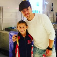 """Lilia said, 'He smells really good."" Thanks #derekhough for being so kind!"" - September 24, 2016 Courtesy yarnobsessed IG"