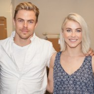 """#derekhough and #juliannehough visit the @foreveryoungfoundation. "" Courtesy hautephotography IG"