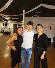 """Look who we bumped into at the studio 😍😍😍 ... @derekhough #dancecelebrity #dwts #choreographer #artist #inspiration#derekhough #somuchrespectforhim #mynewpartner #justkidding @hanly003"" - October 27, 2016 Courtesy crysli001 IG"