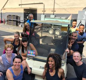 """Preproduction for ""Hairspray Live"" finished :-) Love working with these people!! ❤️❤️#youcantstopthebeat #hairspraylive"" - October 13, 2016 Courtesy woadywill IG"