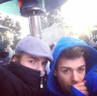 """We is cold ⛄️ today 😳"" - December 2, 2016 Courtesy garrettclayton1 IG"