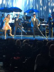 """""""Derek Hough danced & sang to """"Singin' in the Rain."""" Helen Reddy belted out """"You and Me Against the World"""" @mptf95"""" - October 1, 2016 Courtesy imdbkeith twitter"""